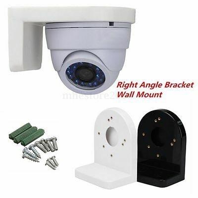L Type Plastic Right Angle Bracket Wall Mount for CCTV Dome IP Security White