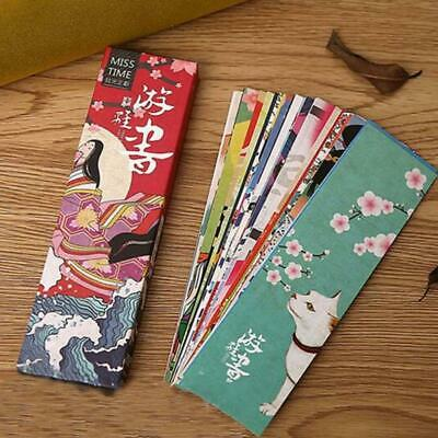 30pcs/lot Kawaii Paper Bookmark Retro Japanese Style Book Marks Stationery