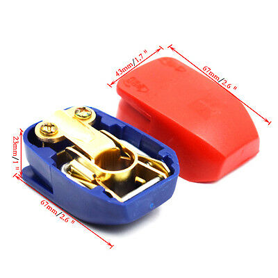 Quick Release Battery Terminals Clamps 12V Pair Car Motorhome Terminal Practical