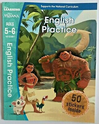 Children/Kids Moana - English Practice KS1 Ages 5-6 by Scholastic NEW!!!