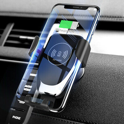 Qi Fast Wireless Car Charger Magnetic Holder Fr iPhone X XS Max 8Plus Samsung hj