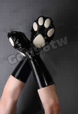 100% Latex Rubber Cat gloves 0,45mm Handschuhe mitts Kostüm cosplay cool