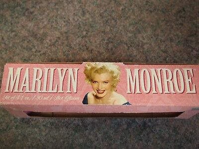 Marilyn Monroe Shot Drinking Glasses X 4