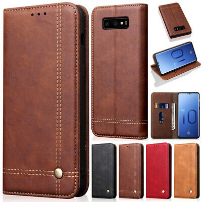 Luxury Magnetic Flip Cover Stand Wallet Leather Case For Samsung Galaxy S10 Plus