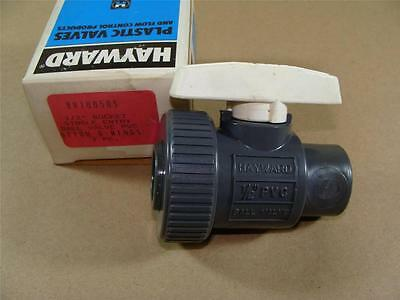 "New Hayward Bv10050S 1/2"" Pvc Single Entry Ball Valve W/ Viton Seals Socket Ends"