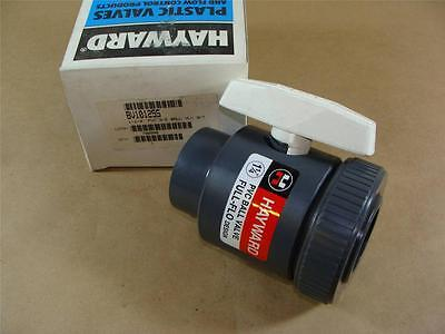 "New Hayward Bv10125S 1-1/4"" Pvc Single Entry Ball Valve Viton Seals Socket Ends"