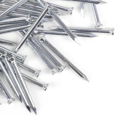20x FLAT HEAD MASONRY NAILS 3mm x 40mm Canvas Frame Picture Hard Concrete Walls