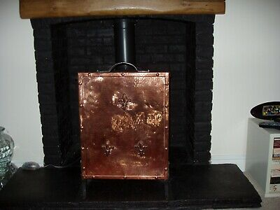 Arts and Crafts Style Fire Screen in hammered copper