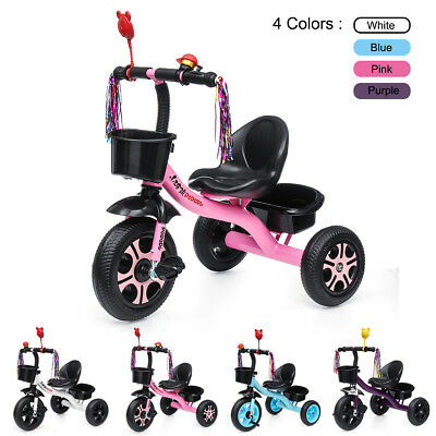3 Wheel Baby Kids Ride On Tricycle Bike Children Toddler Trike For 2-6 Years Old