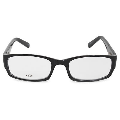 cebe4eaea5 Harley Davidson Rectangular Reading Eyeglasses HDV3005 BLK 54 +2.0