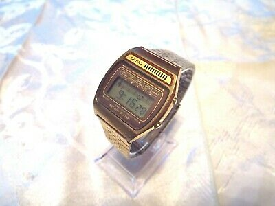 Men's Rare Vintage Gold Toned Casio H104 Melody Alarm Digital  Watch