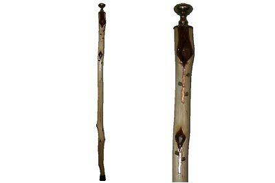 44 in.Tall Wood Door Knob Cane for Women, Stone Flowers, Handmade Diamond Willow