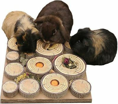 Rosewood Maze-a-log Treat Challenge for Rabbits and Guinea Pigs