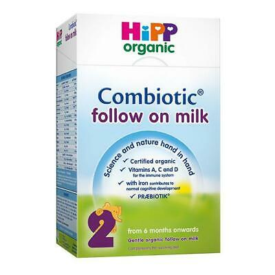 HiPP Organic Combiotic Follow On Milk Stage 2 UK Version 800g 4 BOXES -LONG DATE