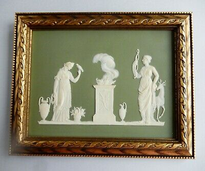 """ANTIQUE  Wedgwood (only) RARE Plaque DIANA the HUNTRESS with GODDESS  9.5"""" x 8"""""""