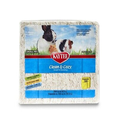 Kaytee Clean and Cozy WHITE Super Absorbent Paper Bedding, Small, 12.3 Litre