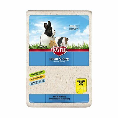 Kaytee Clean and Cozy WHITE Super Absorbent Paper Bedding, Small, 85 Litre