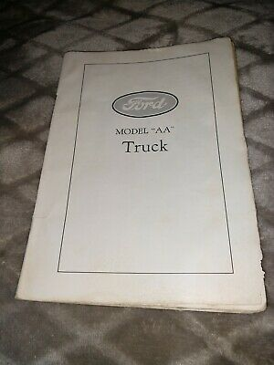 Ford Model AA  Truck  Book