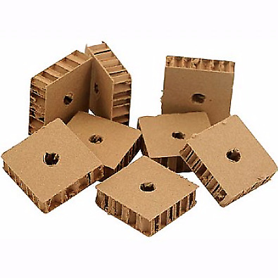 Chunky Corrugated Cardboard - Parrot Toy Parts - Pack of 8 - Make New Bird Toys