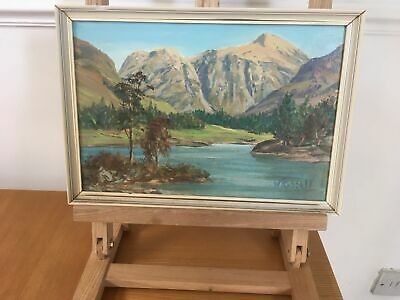 Vintage Oil Painting Glencoe Stob Signed William Russell Framed