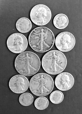 $3.75 Face Value US 90% Silver Coins - Historic Collection  G to F Condition