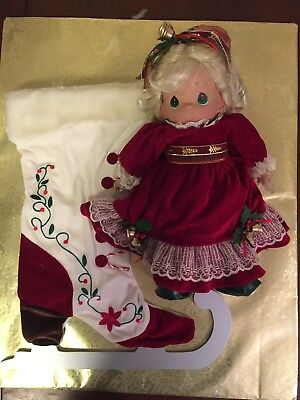 NEW Precious Moments Christmas Doll & Stockings Collection Winter on Ice NIB