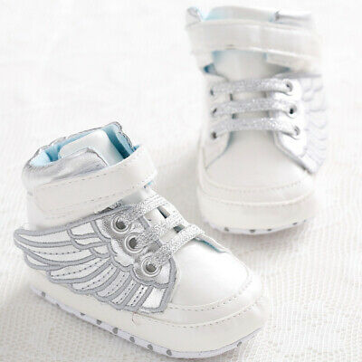 Silver Fashion Infant Baby Boys Girls Soft Sole Toddler Crib Shoes Sneakers 13cm