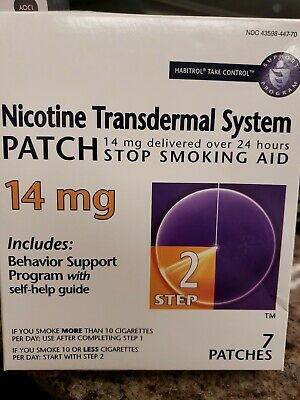 Habitrol Nicotine Transdermal System Stop Smoking Aid 7 Patches Step 1 Exp 1/19+
