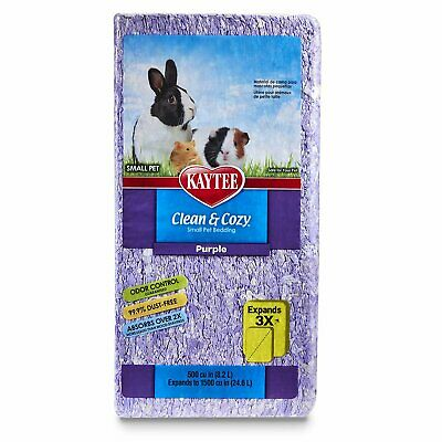 Kaytee Clean Cozy PURPLE Super Absorbent Paper Bedding Expands to 24.6 Litre