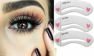 Eyebrow Stencils 3 Shape Make Up Tool Reusable Free UK Next day Delivery