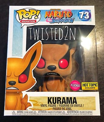 Funko Pop Animation NARUTO Shippuden #73 Flocked Kurama Hot Topic Excl In Hand