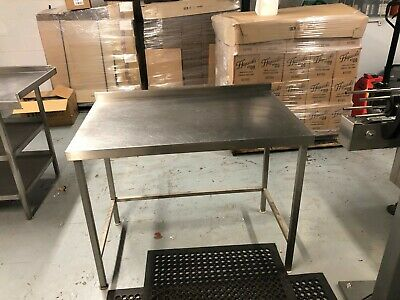 Stainless steel prep table with upstand.
