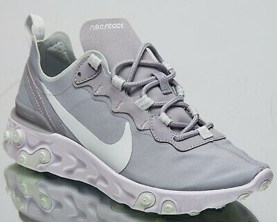 9620b923237 Nike Womens React Element 55 New Lifestyle Shoes Wolf Grey Ghost Aqua BQ2728 -005