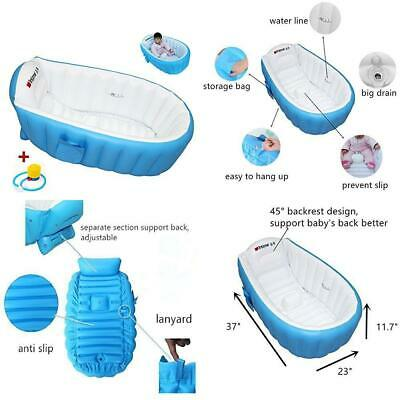Locisne Baby Soft BathTub Children Inflatable Anti-slippery Swimming Pool...