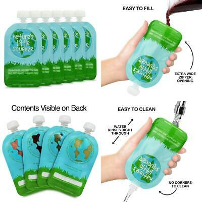 WeeSprout Double Zipper Reusable Food Pouch - 6 Pack - 5 fl oz