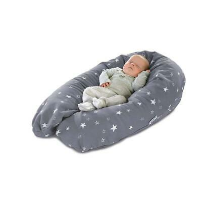 Theraline The Perfect Pillow For Pregnancy and Nursing, Grey,190 cm incl.