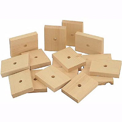 Natural Wood Slats Medium - Parrot Toy Parts - Pack of 16 - Chewable And Natural