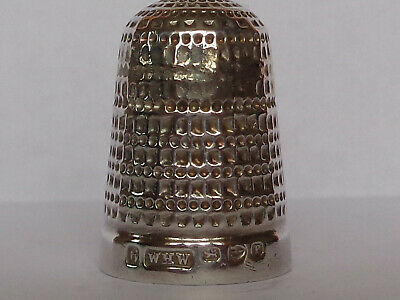 """Rare Antique Silver Thimble by Makers """"W. H. Wakefield"""" (6) Chester 1898"""