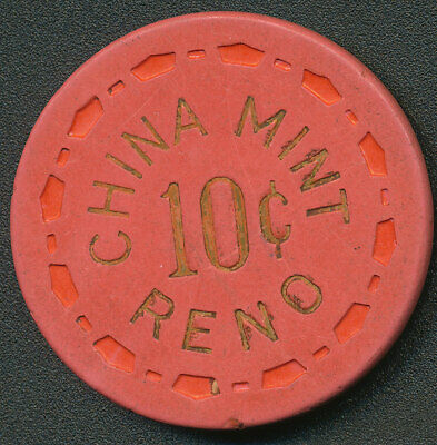 China Mint Reno 1st Issue $.10 Cent Chip 1960 R6