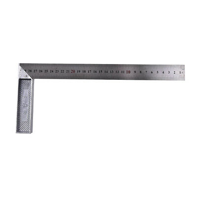 Fad Stainless Steel 15x30cm 90Degree Angle Metric Try Mitre Square Ruler ScaleJH