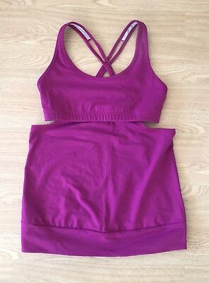 e0958890f2182 TONIC Yoga   Climbing   Workout   Aerial   Prana Orchid Cut Out Tank Top  SMALL