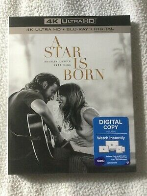 A Star Is Born 4K Ultra HD + Blu Ray + Digital Copy Brand New Sealed