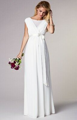 MATERNITY - TIFFANY Rose ANASTASIA LONG IVORY GOWN Perfect condition ... 1a26dad81