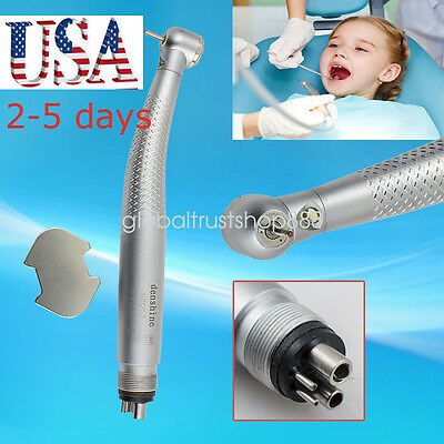 Fit NSK E-generator LED Fiber Optic Dental High Speed Handpiece Push 4 Hole 3W