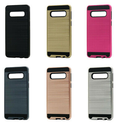 Lot/6 Brushed Finish Hybrid Case for Samsung Galaxy S10 Plus Wholesale