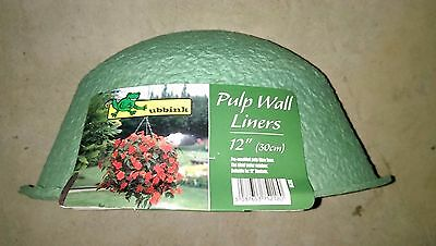 """2 x 12"""" / 30cm Wall Mounted Hanging Basket Pulp Liners"""