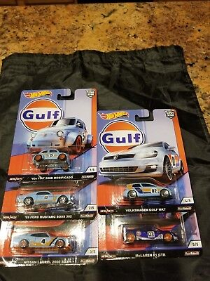 "2019 Hot Wheels ""Gulf"" Car Culture Premium Set of 5 Cars"