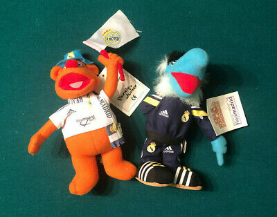 Muppets Fozzie Bear & Sam The Eagle Real Madrid Soccer Dolls From Spain Rare