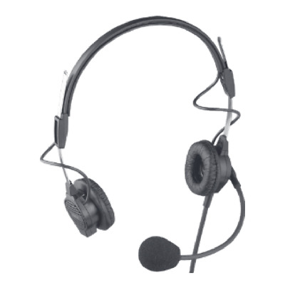 Telex PH-44 300853-400 Dual-Sided Headset w/ Flexible Dynamic Boom Mic, A4F Conn
