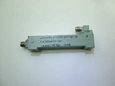 RF bandpass filter CF: 9.35GHz BW: 300GHz MW-11000-8-9350/300-SF-SF Patentix Ltd